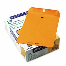 Park Ridge Kraft Clasp Envelope, 9 x 12, Light Brown, 100/box