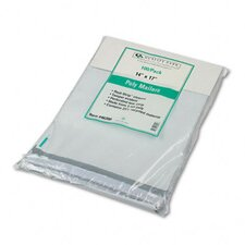 Redi-Strip Recycled Poly Mailer, Side Seam, 14 x 17, White, 100/pack