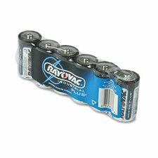 Industrial PLUS Alkaline Batteries, C, 6/Pack