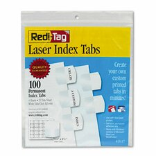 Laser Printable Index Tab, 100/Pack