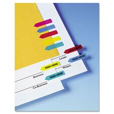 "<strong>Redi-Tag Corporation</strong> ""Sign Here"" Mini Arrow Page Flag, 126 Flags/Pack"