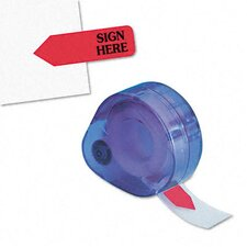 """Sign Here"" Message Right Arrow Flag Refill, 6 Rolls of 120 Flags/Box"