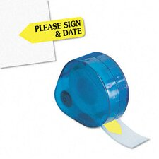 """Please Sign & Date"" Message Arrow Flag Refill, 6 Rolls of 120 Flags/Box"