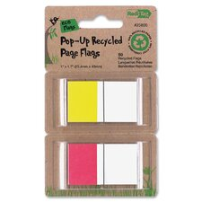 Recycled Page Flags In Pop-Up Dispenser (50 Pack)