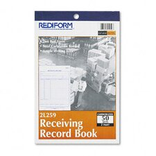 Receiving Record Book, 5 1/2 X 7 7/8, 50 Sets/Book
