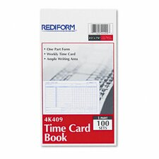 Employee Time Card, Weekly, 4-1/4 x 7, 100 per Pad