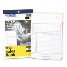 Sales Book, 5 1/2 X 7 7/8, Three-Part Carbonless, 50 Sets/Book
