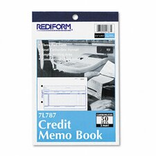 Credit Memo Book, 50 Sets/Book