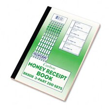Money Receipt Book, 2 3/4 X 7, 200 Sets/Book