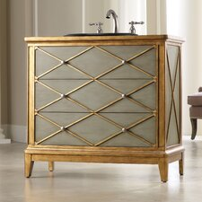 "Designer Series 42"" Lauren Hall Chest Vanity Set"