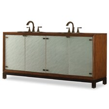 "Designer Isla 78"" Double Sink Chest Vanity Set"