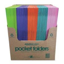 "Two Pocket Folders, 11-3/4""x9-1/2"", 100 per Carton, Dual Color"