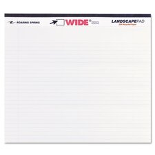<strong>Roaring Spring Paper Products</strong> Landscape Format Writing Pad, College Ruled, 40 Sheets/Pad