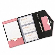 <strong>Rolodex Corporation</strong> Resilient Business Card Book, Faux Leather, Pink