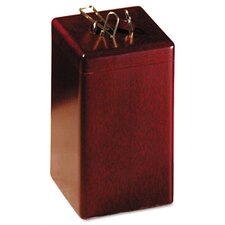 Wood Tones Paper Clip Holder, Wood, 2 1/8w x 2 1/8d x 3 1/2h, Mahogany