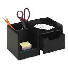 <strong>Rolodex Corporation</strong> Wood Tones Handheld Electronics Organizer, Wood, 10w x 6d x 5h, Black