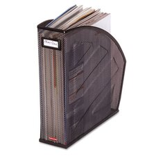 Standard Rolled Mesh Steel Magazine File, 4-7/8 x 10-1/2 x 11-3/4, Black