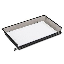 <strong>Rolodex Corporation</strong> Nestable Mesh Stacking Side Load Legal Tray, Wire, Black
