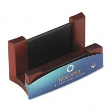 Wood/Leather Business Card Holder