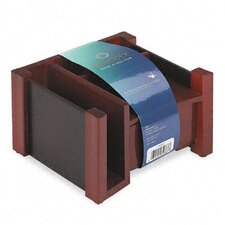 <strong>Rolodex Corporation</strong> Desk Director, Wood, 7 1/8w x 6 3/4d x 4 1/8h, Black/Mahogany
