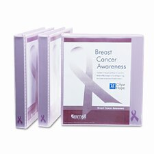 Breast Cancer Awareness View Binder, 1in Capacity