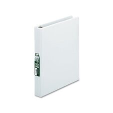 "Antimicrobial Locking D-Ring View Binder, 1"" Capacity, White"