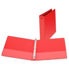 "3-Ring Vue Binder, 1-1/2"" Capacity, 11""x8-1/2"", Red"