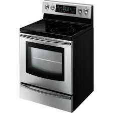 Samsung FE710DRS 5.9 cu. ft. Freestanding Flex Dual Oven with Radiant Electric Range - Stainless Steel