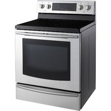 5.9 Cu. Ft. 30 In. Freestanding Electric Range with Warming Drawer and Induction/Radiant Ceramic Cooktop
