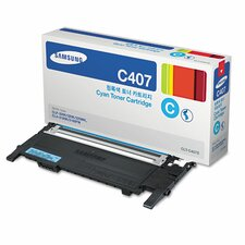 CLTC407S Toner Cartridge, 1000 Page Yield, Cyan
