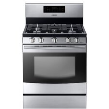 <strong>Samsung</strong> Gas Freestanding Range with 5 Burners, 5.8 Cu. Ft. Oven and Storage Drawer