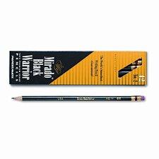 Mirado Black Warrior Woodcase Pencil, HB #2, Black Matte Brl, Dozen
