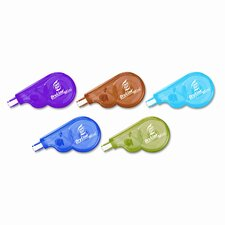 "Liquid Paper Dry line Mini Correction Tape, 1/5"" x 197"", Five per Pack"