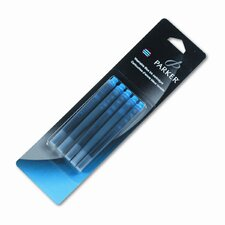 Parker Refill Cartridge For Washable Ink Fountain Pens, 5/Pack