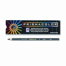 Premier Colored Pencil, Black Lead/Barrel, Dozen