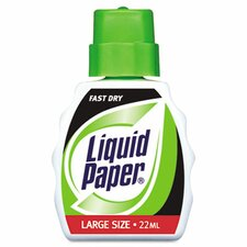 Liquid Paper Fast Dry Correction Fluid, 22ml Bottle, White