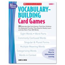 Vocabulary Building Card Games, Grade One