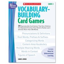 Vocabulary Building Card Games, Grade Three