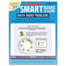 <strong>Scholastic</strong> SMART Board Lessons with CD, Math, Grades 3-6, 48 pages