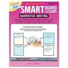 SMART Board Lessons with CD, Writing, Grades 3-6, 48 pages