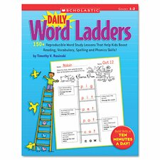 Daily Word Ladders Book for Grades 1-2