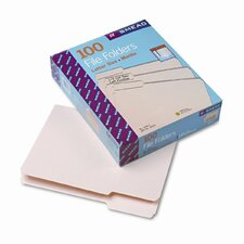 1/3 Cut First Position One-Ply Top Tab File Folders, Letter, 100/Box