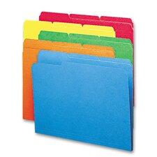 1/3 Cut Top Tab Antimicrobial Folders, 100/Box