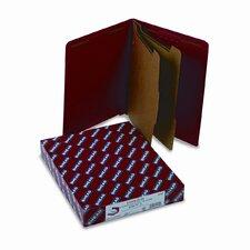 Pressboard End Tab Folders, Letter, Six-Section, 10/Box