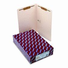 One Fastener End Tab 11 Point Heavyweight Folders, 50/Box