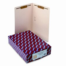 One Fastener End Tab 14 Point Heavyweight Folders, 50/Box