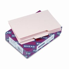 Blank Self-Tab Card Guides, 1/3 Tab, 100/Box