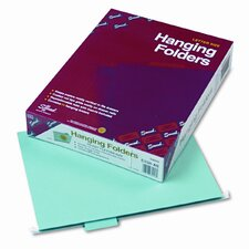 11 Point Stock Hanging Folders, 1/5 Tab, Letter, 25/Box