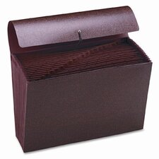 Hvy-Duty A-Z Expanding File, 21 Pocket, Leather-Like Redrope, Legal, Red