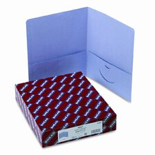 Two-Pocket Portfolio, Embossed Leather Grain Paper, 25/Box